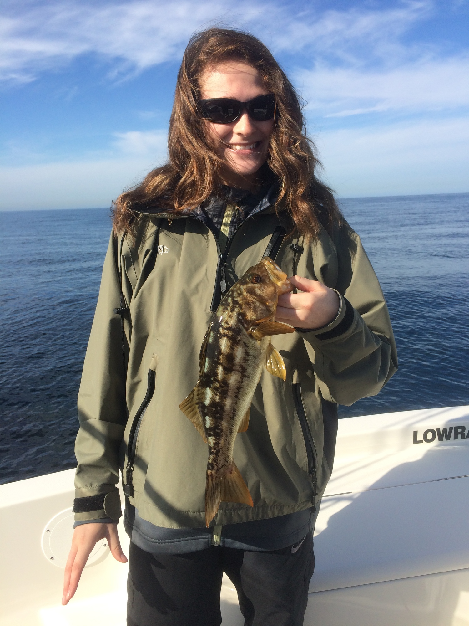 Brianna with another Calico Bass!