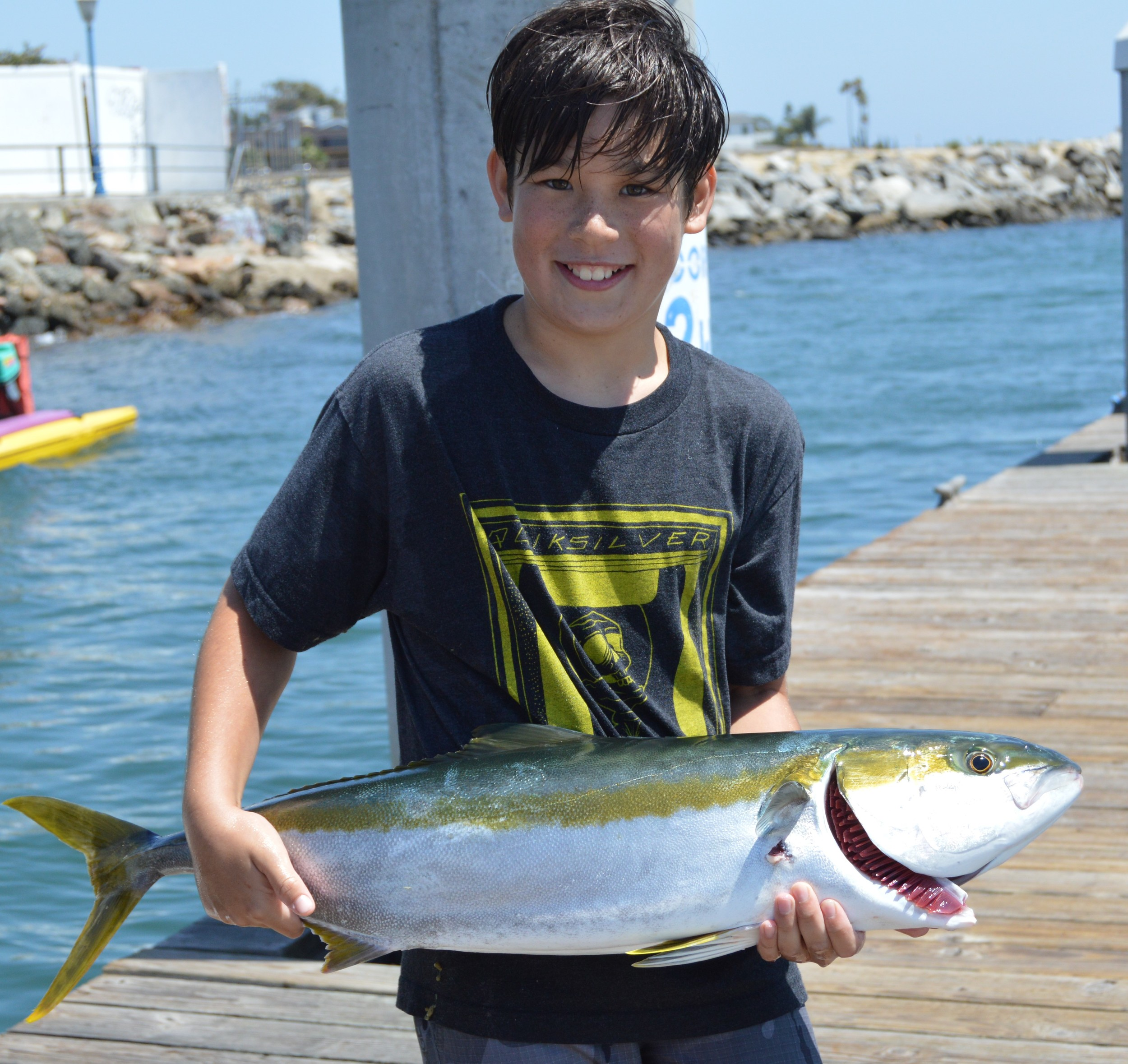 Garrett's first Yellowtail on the Iron!