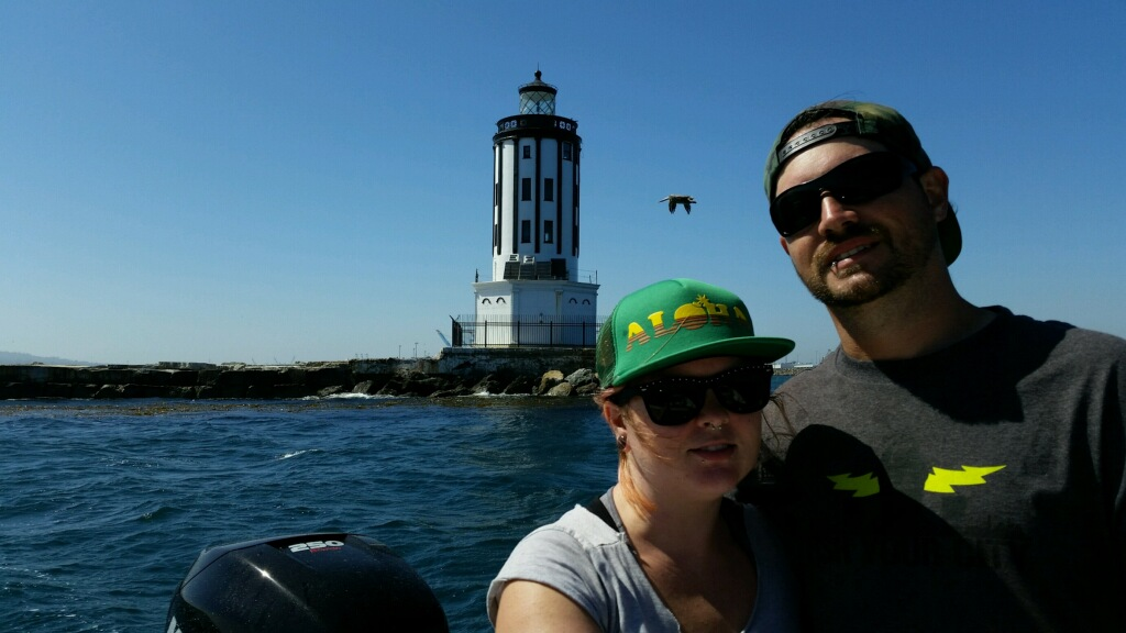 Angel's Gate Lighthouse, always a great photo op! Mr. and Mrs. Evans