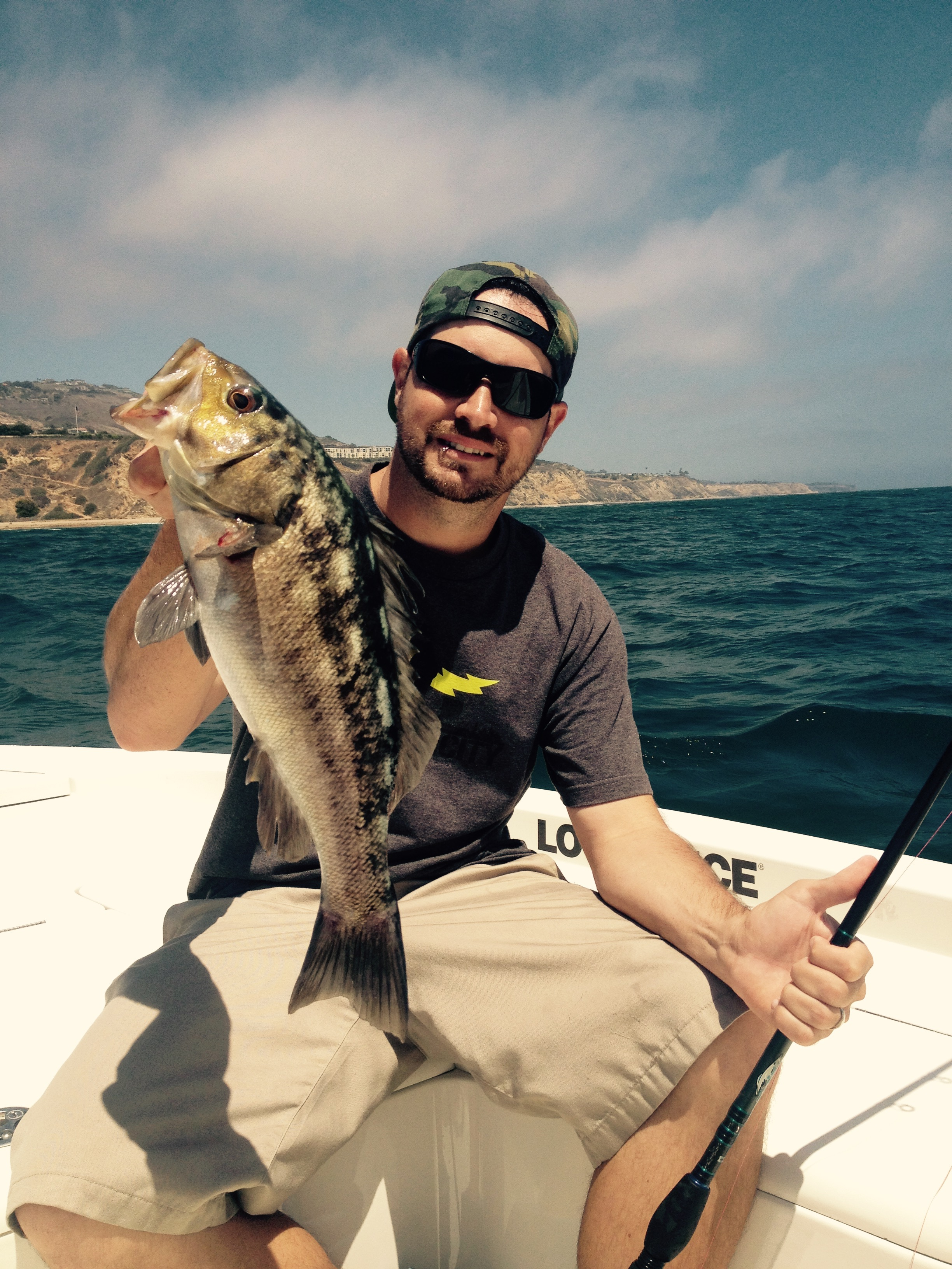 Jeremy witha nice Calico Bass at Palos Verdes