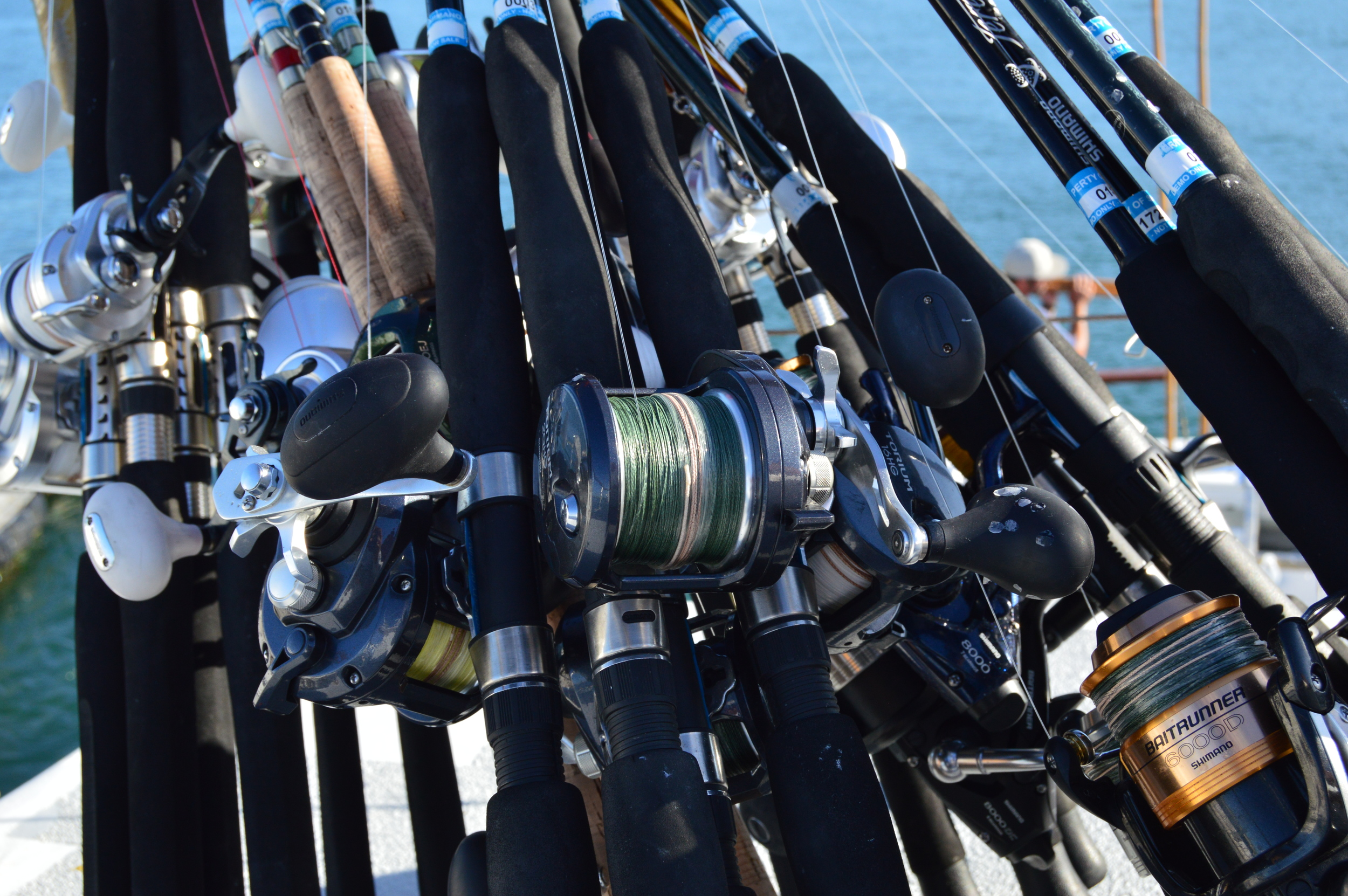 Some of the great Shimano rods and reels that will be used during the trip!
