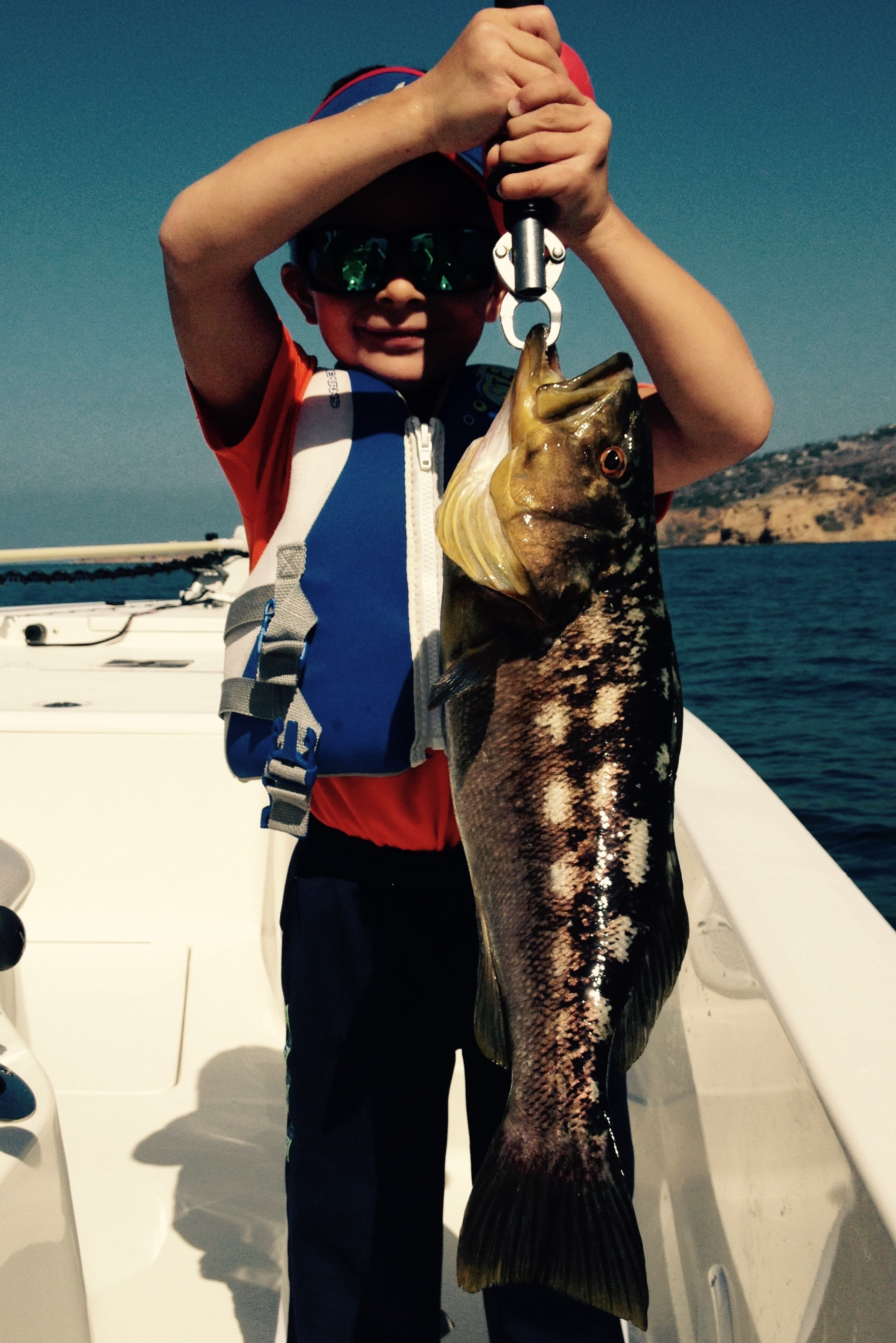 Mason with a very nice Calico Bass