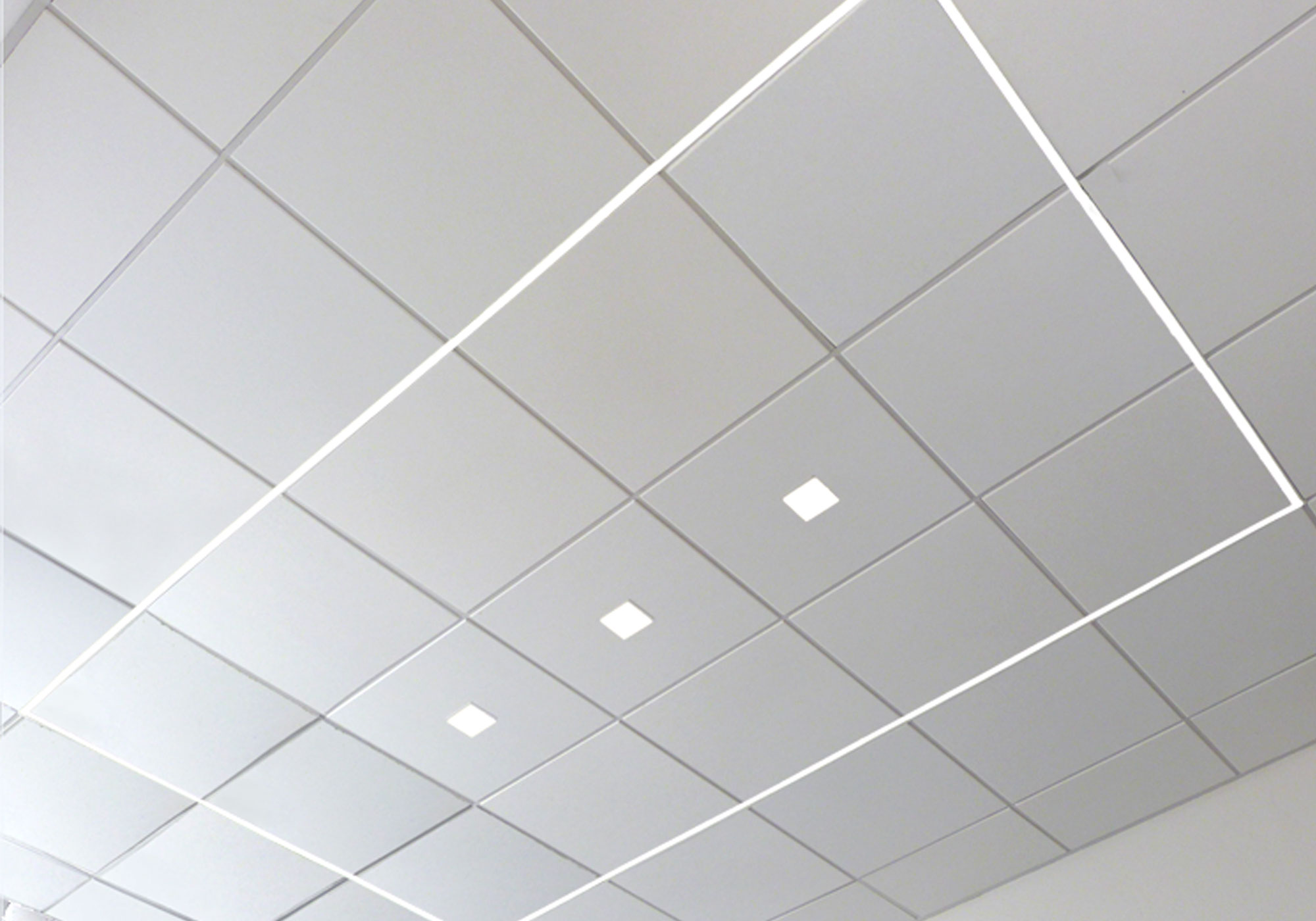 Airelight™ Linear SC 0.5, Airelight™ Square 3000K CCT Directly Attached Suspended Ceiling T-Grid, Embedded Square in Ceiling Panel