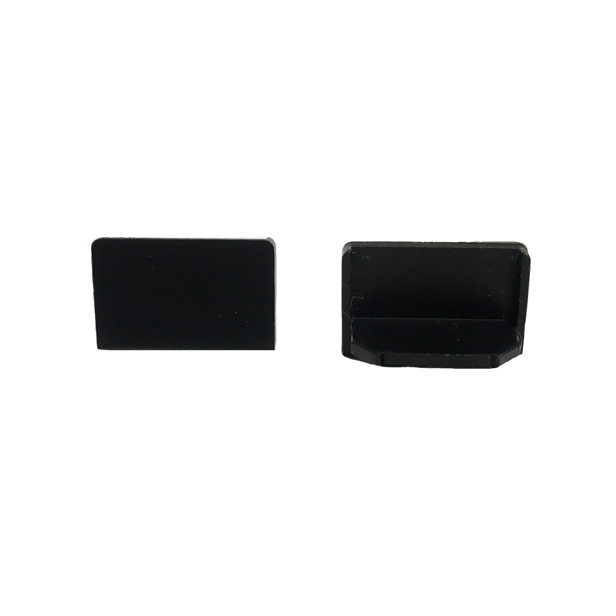 End Cap Snap Channel ES 0.5 Black   SKU: 63634
