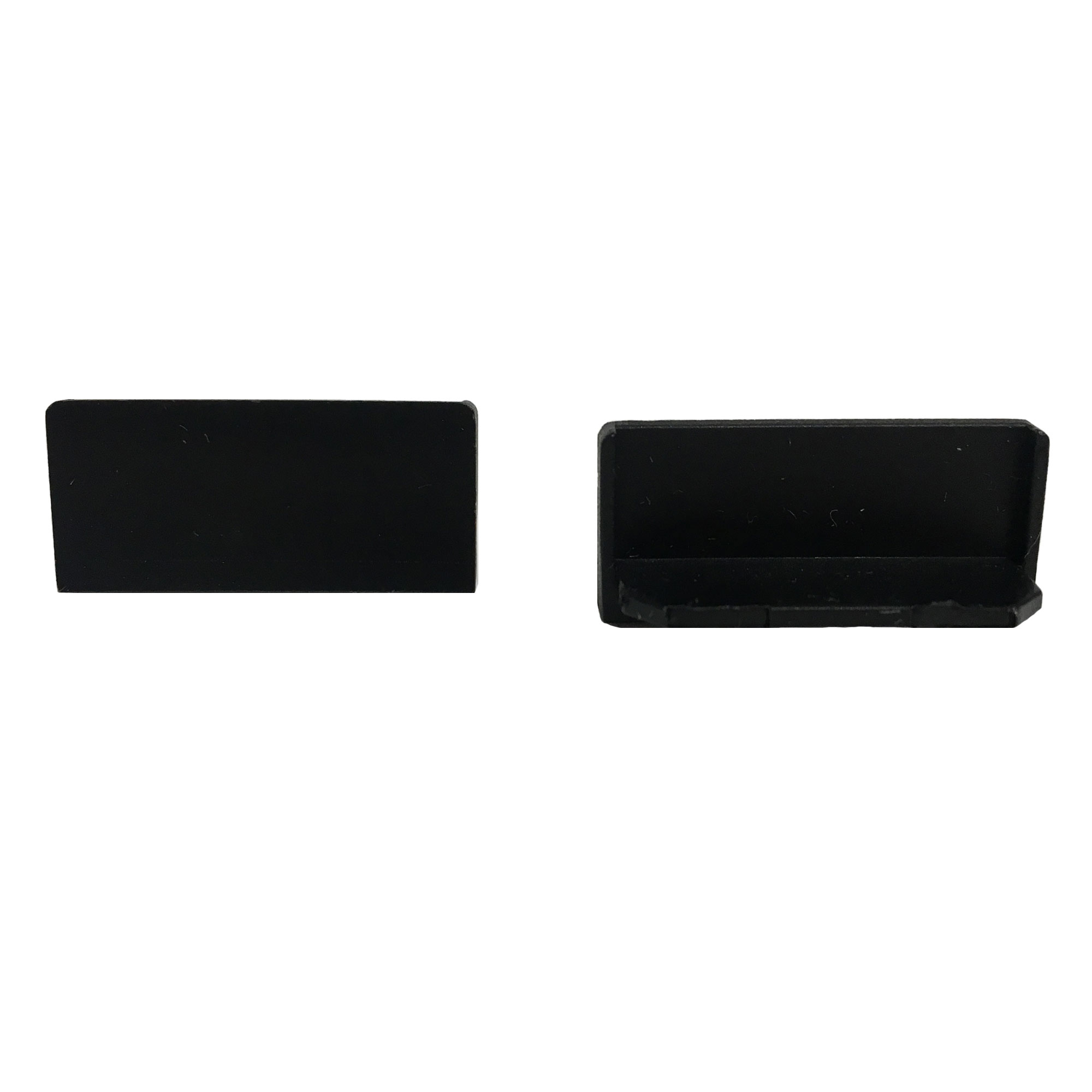 End Cap Snap Channel ES 1.0 Black   SKU: 75755