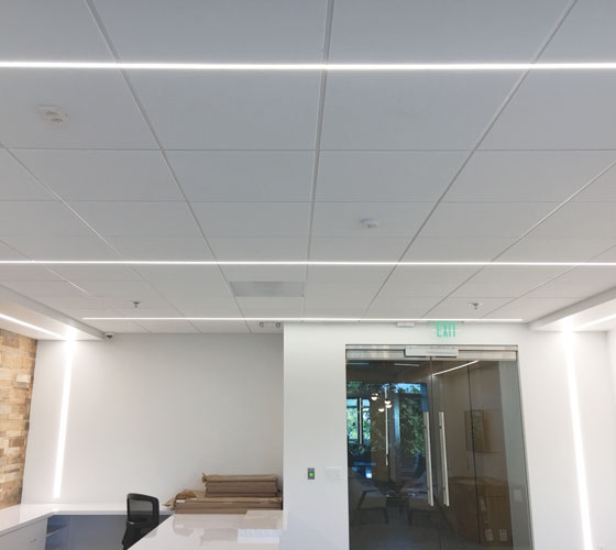 Airelight™ Linear SC 0.5 Directly Attached to T-Bar Grid