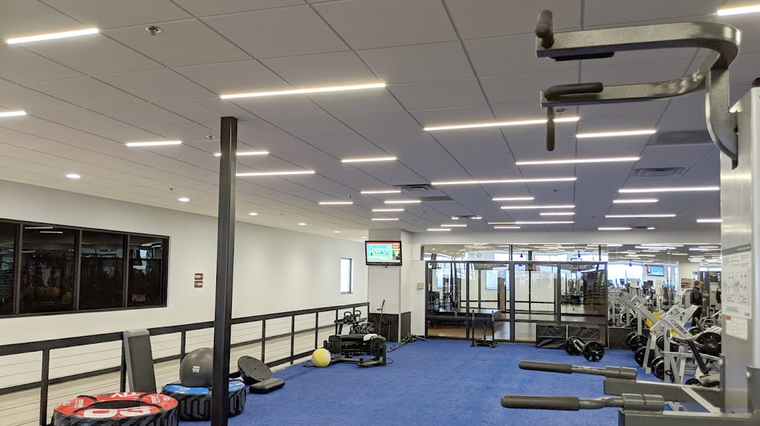 Airelight™ Linear SC 0.5 Directly Attached to T-Bar Grid Ceiling