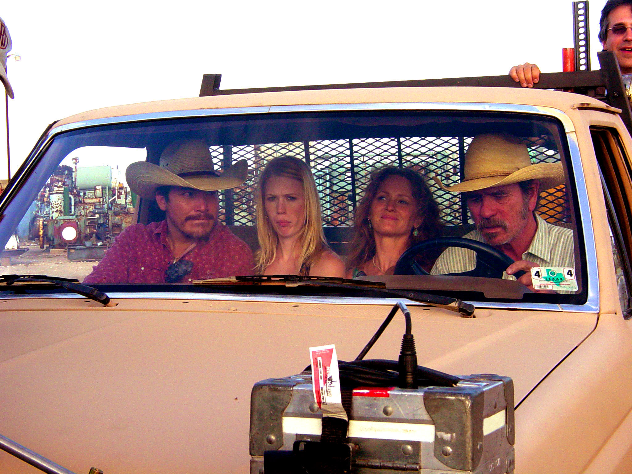 Julio Cedillo January Jones Melissa Leo Tommy in truck.jpg