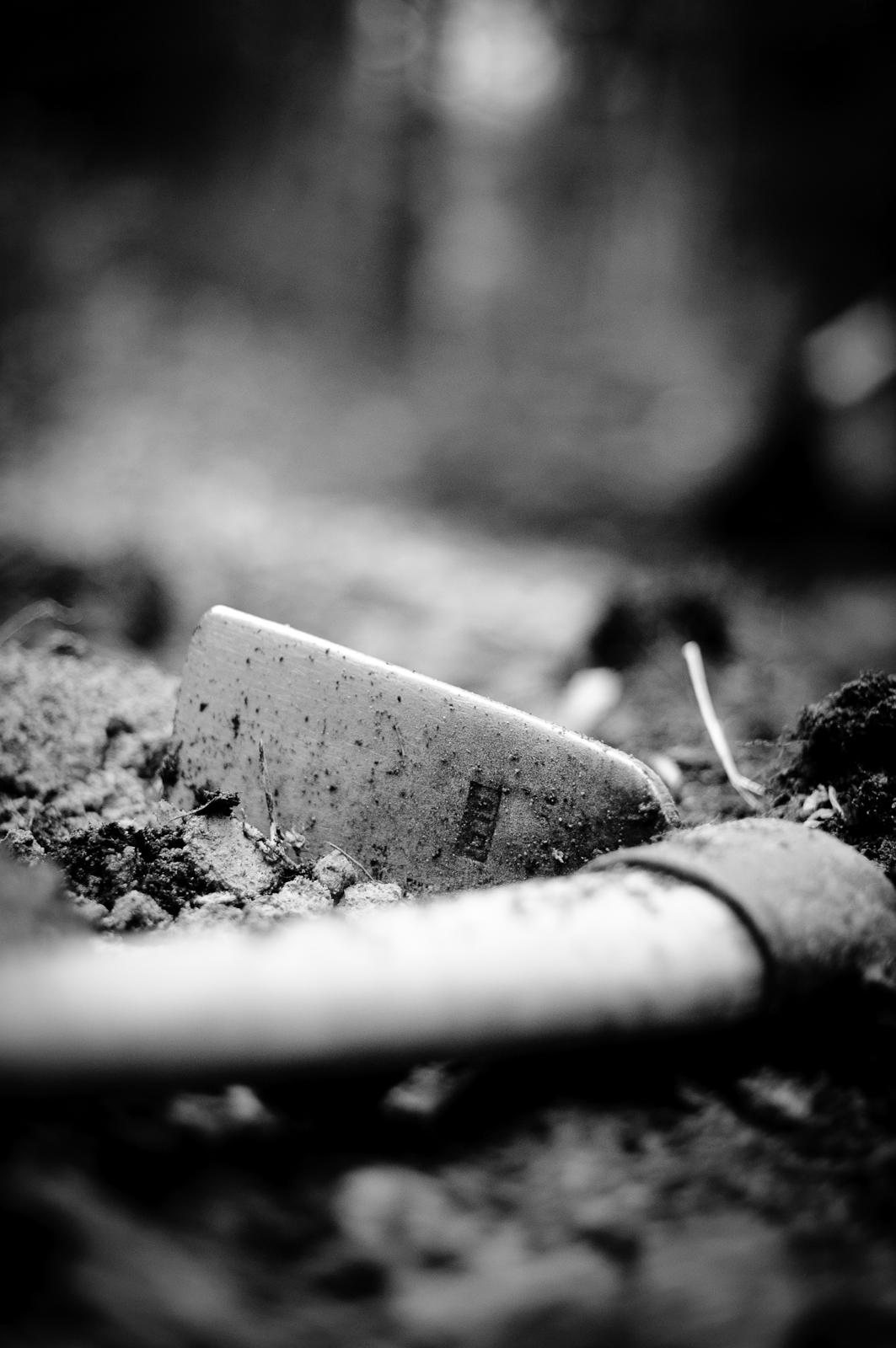 Oumbärligt verktyg i skogen.