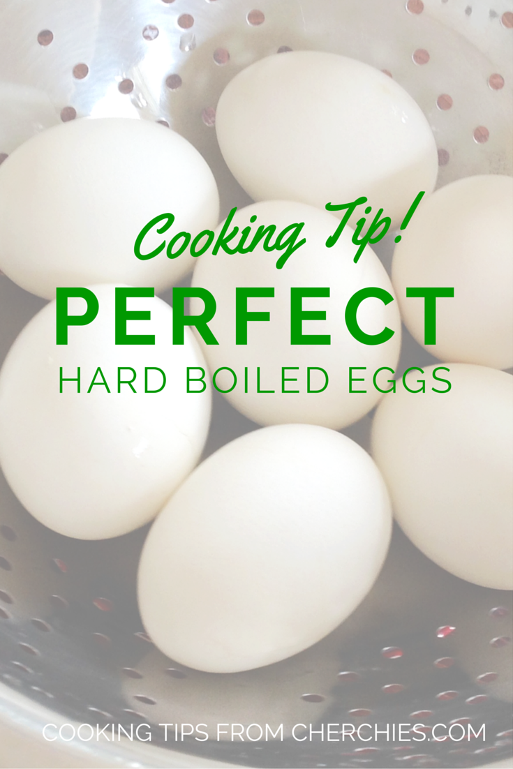 Cooking Tip: How to have perfect hard boiled eggs every time!
