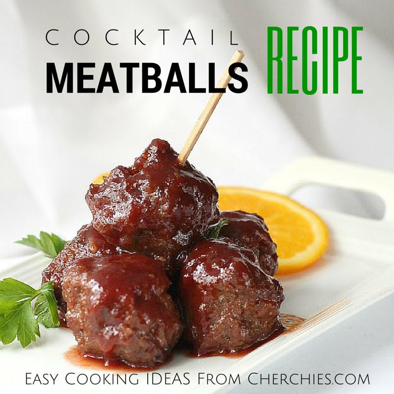 Easy Entertaining!Cocktail Meatballs Recipe