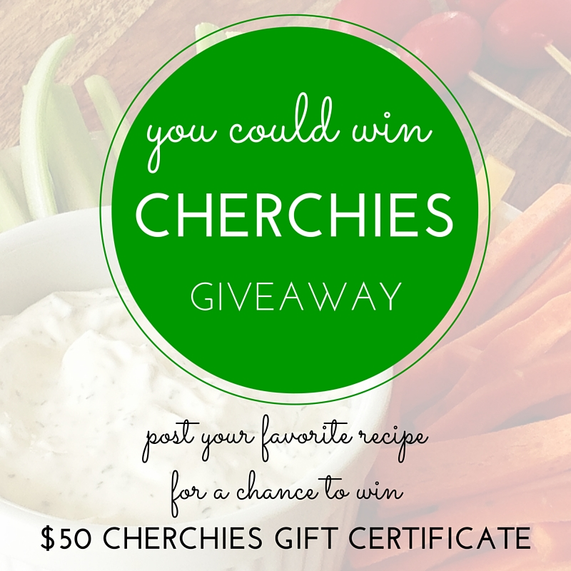 Enter for a chance to win a $50 Cherchies Gift Certificate