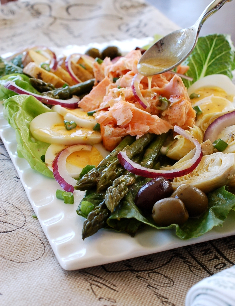 Salmon Nicoise With Champagne Herb Vinaigrette Recipe