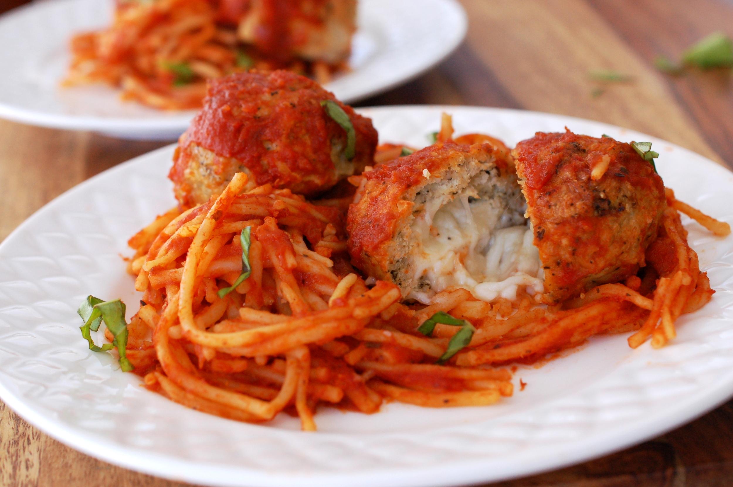 Chicken Parmesan Spaghetti and Meatballs Recipe