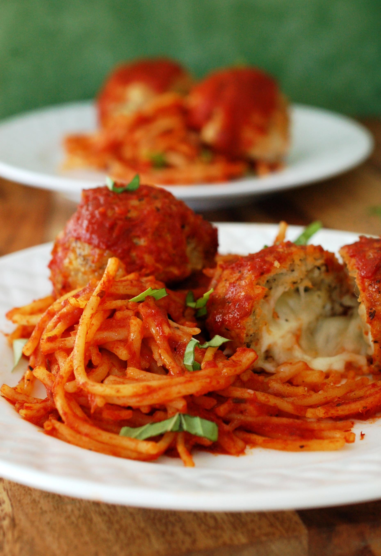 Stuffed Chicken Parmesan Spaghetti and Meatballs Recipe
