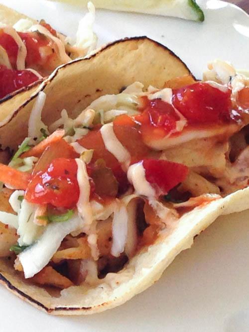 Peachy Fish Taco Recipe