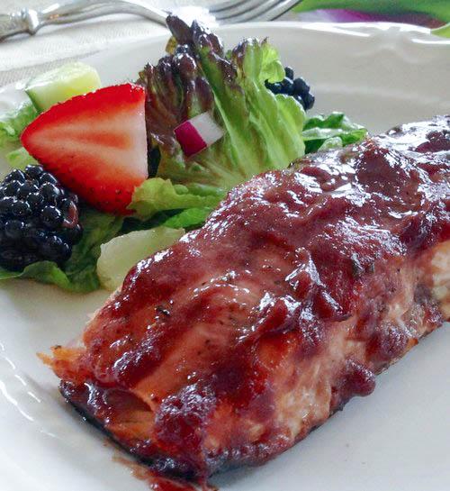 Blackberry Champagne Salmon Recipe
