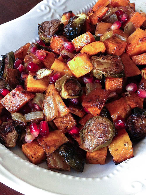 Champagne Roasted Brussel Sprouts and Butternut Squash Recipe