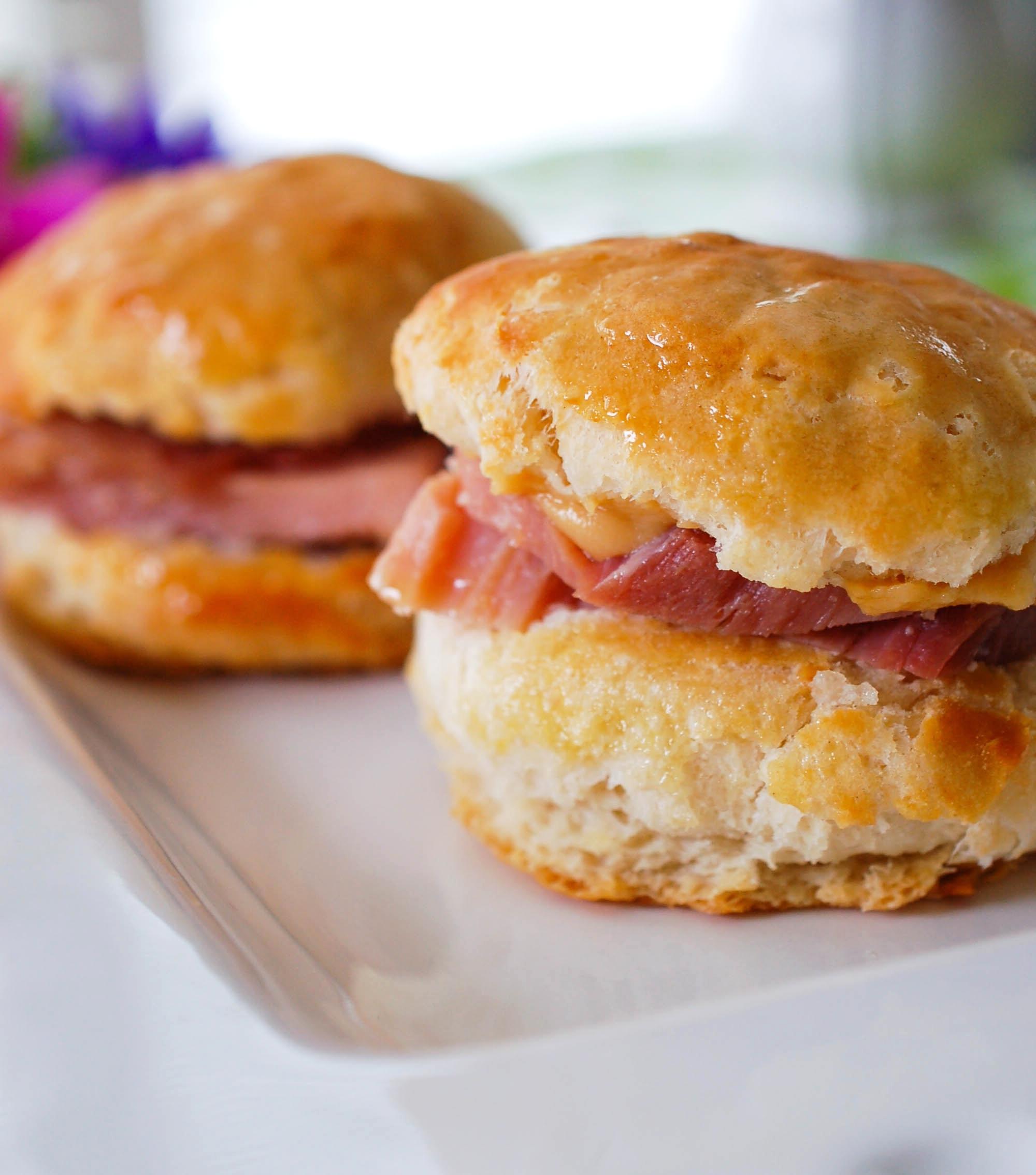 Ham and Mustard Biscuit Recipe