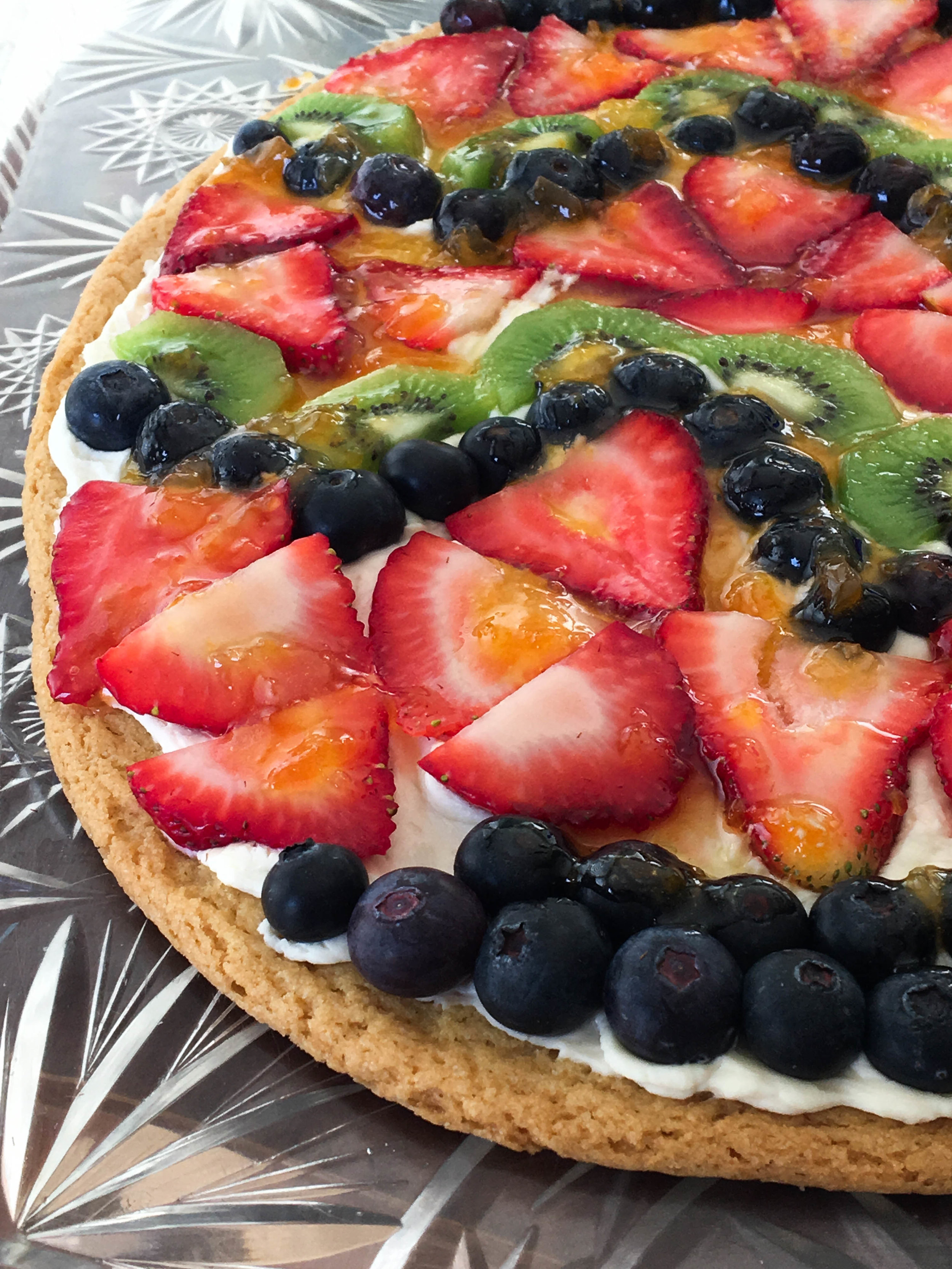 Lemon Raspberry Fruit Pizza Recipe