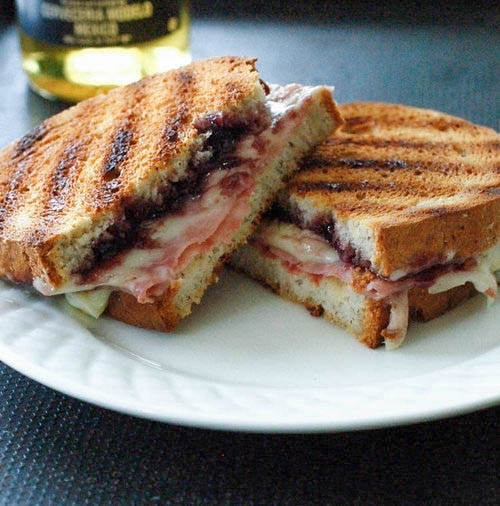 Champagne Blackberry Grilled Ham and Cheese Recipe