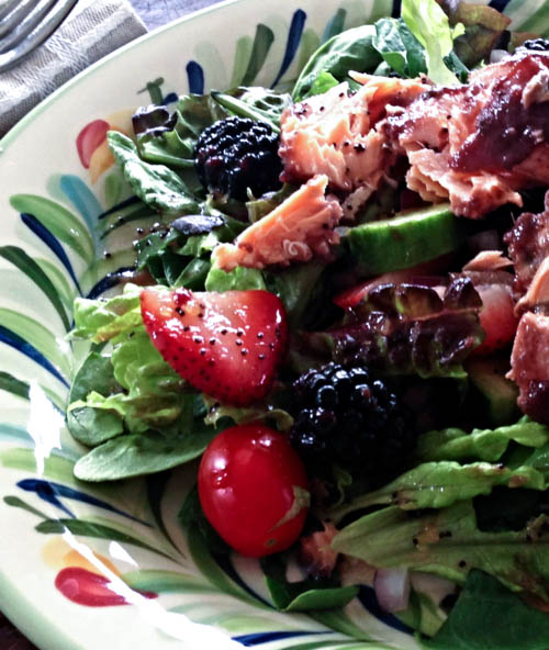 Blackberry Salmon Salad Recipe