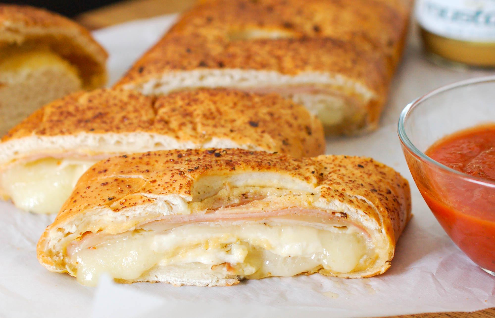 Ham, Turkey, and Cheese Stromboli Recipe