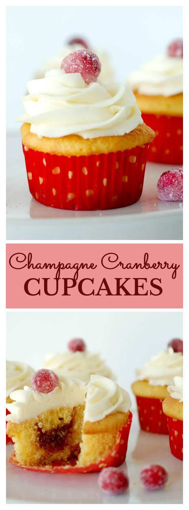 Champagne Cranberry Cupcake Recipe
