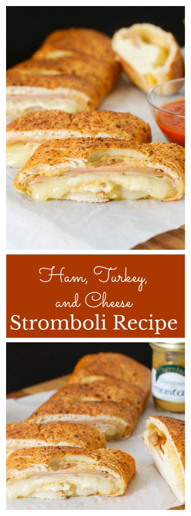 Ham, Turkey and Cheese Stromboli Recipe