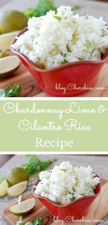 Chardonnay Lime & Cilantro Rice Recipe