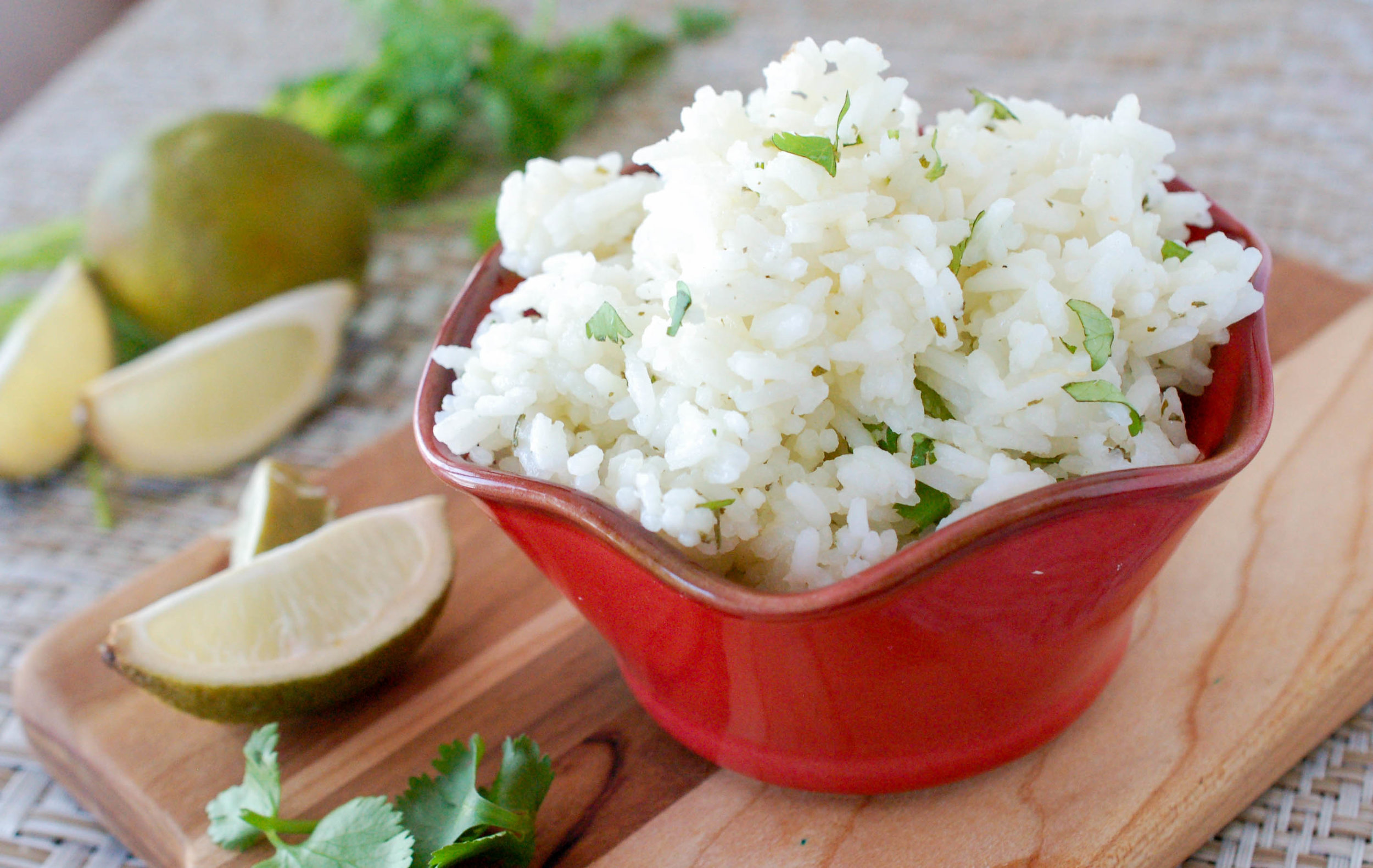 Chardonnay Lime & Cilantro Rice Recipe
