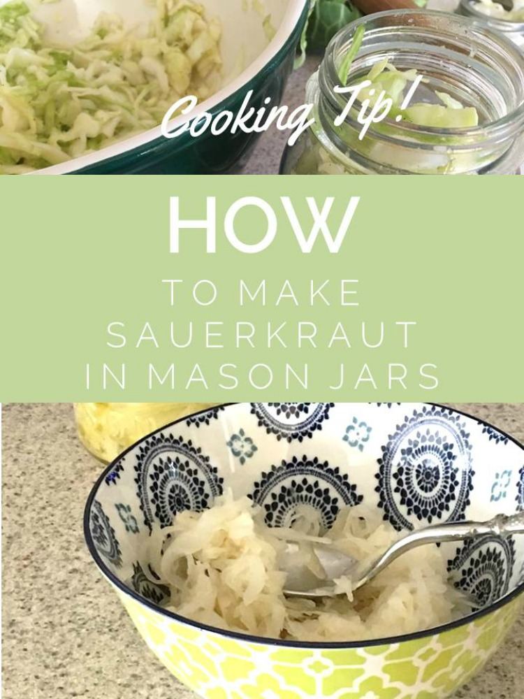 Cooking Tip: How To Make Sauerkraut in Mason Jars