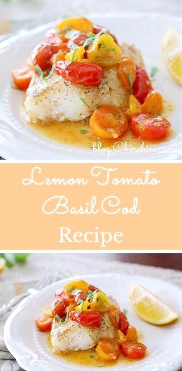 Lemon Tomato Basil Cod Recipe