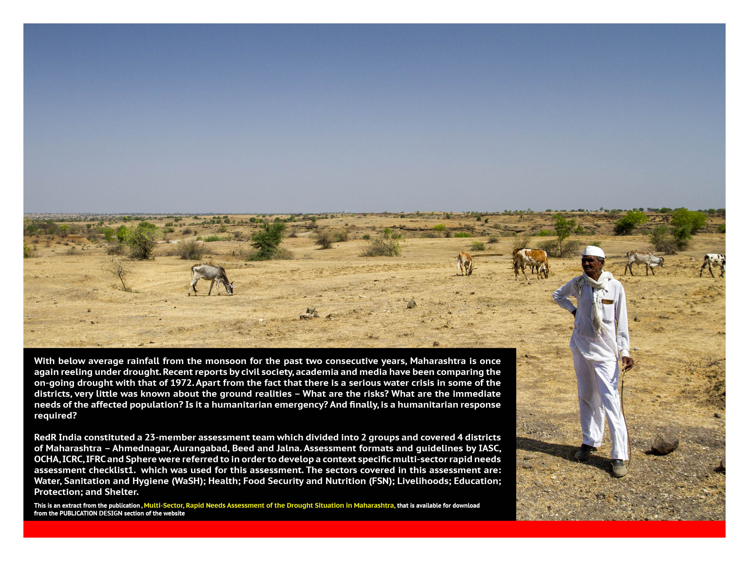 Maharashtra Drought, India - RedR India Drought Assessment