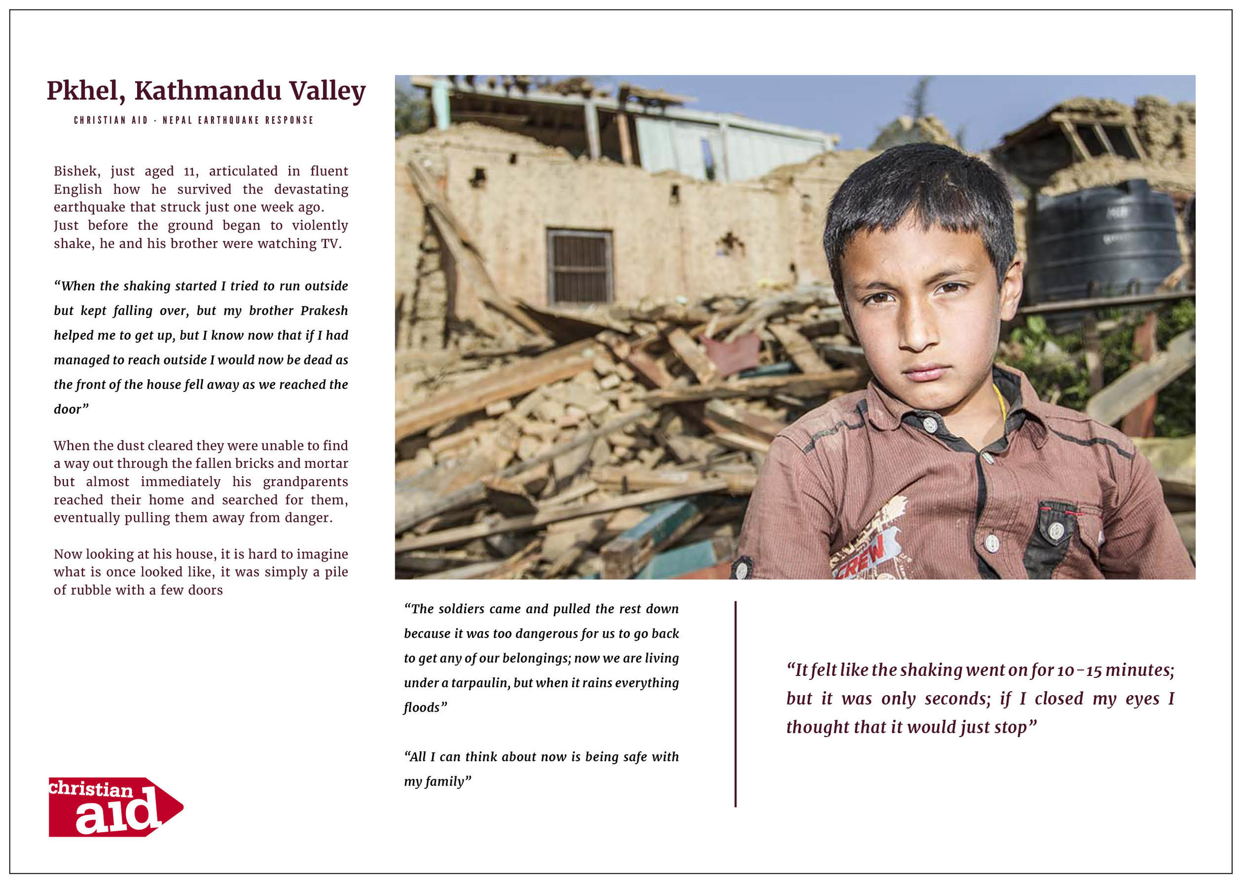 Christian Aid - Earthquake Response Programme