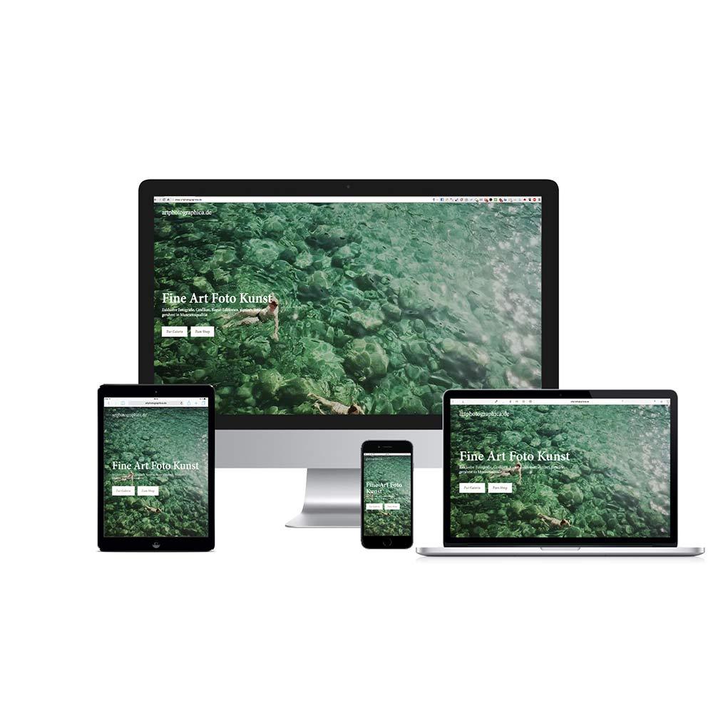 Home Screen Responsive Webshop Float  www.artphotographica.de