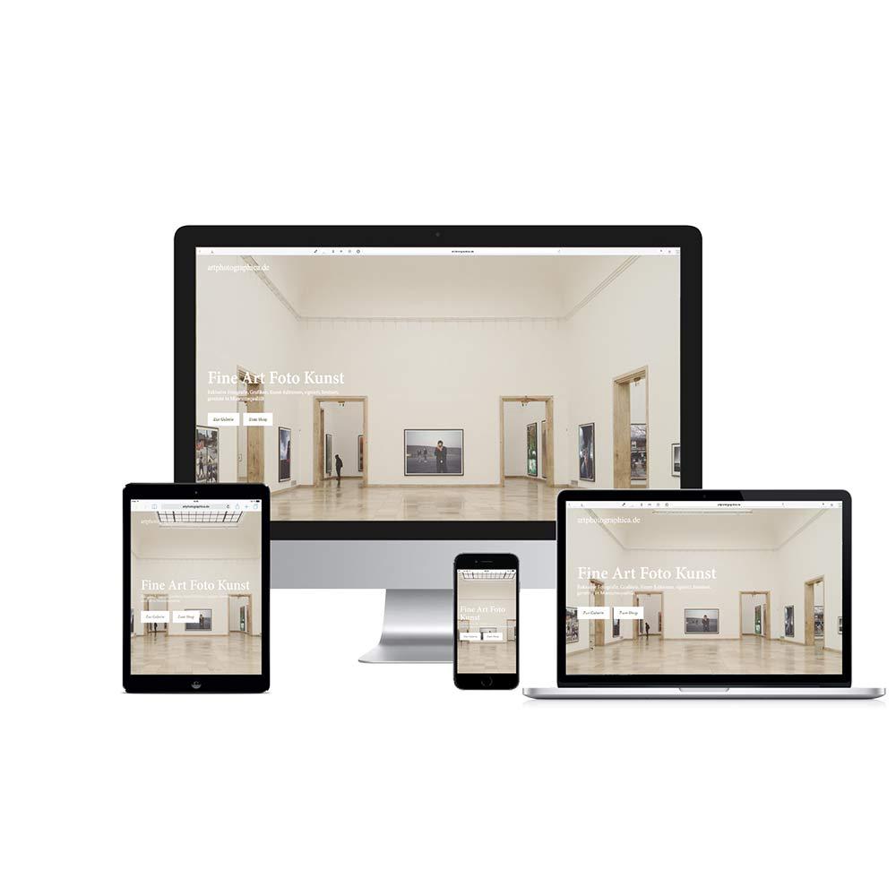 Home Screen Responsive Webshop Galerie  www.artphotographica.de