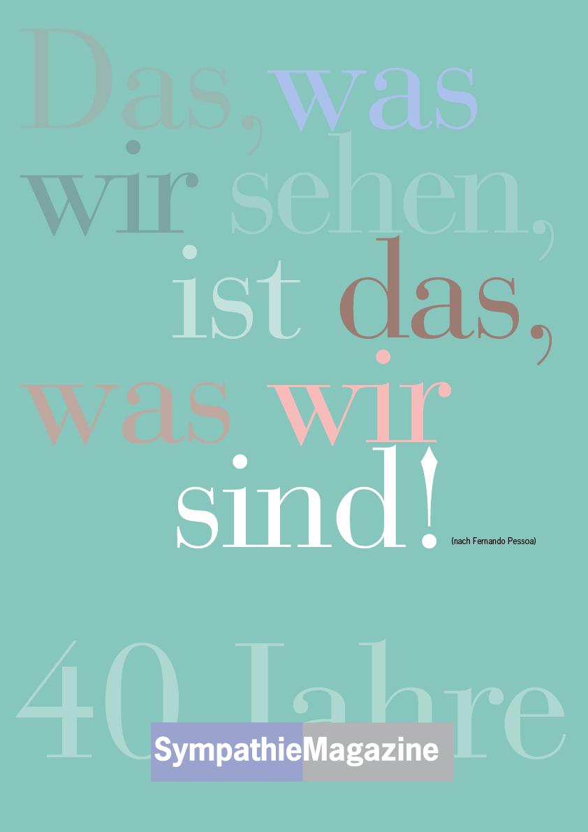 Jubiläums Poster 40 Jahre Sympathie Magazine