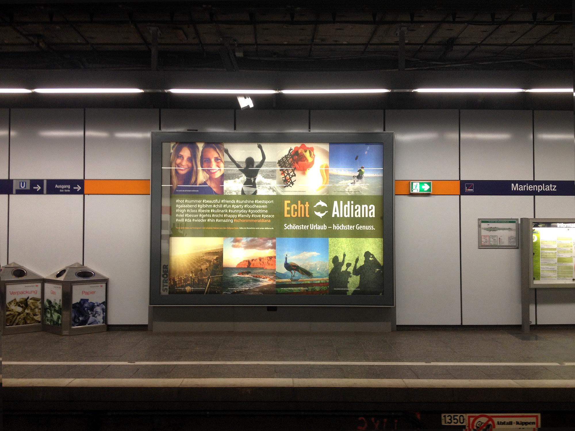 Ganzstellen 18/1 Instagram Offline Kampagne Echt Aldiana 2016