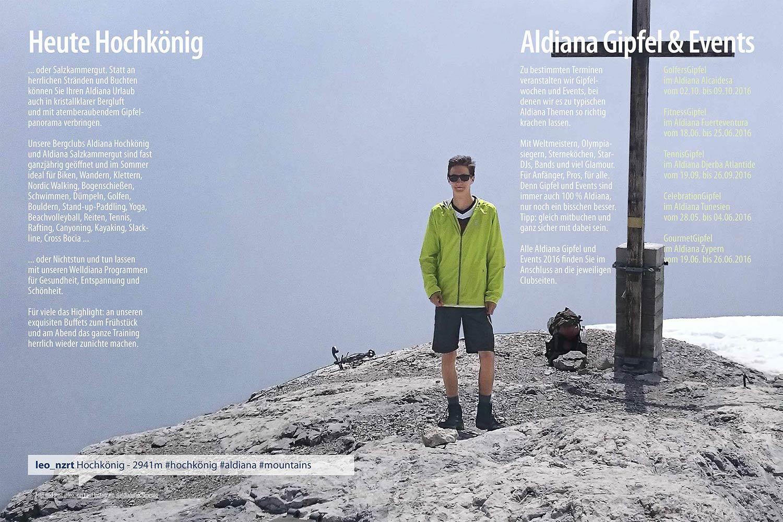 Gipfel Echt Aldiana Katalog Sommer 2016 Instagram