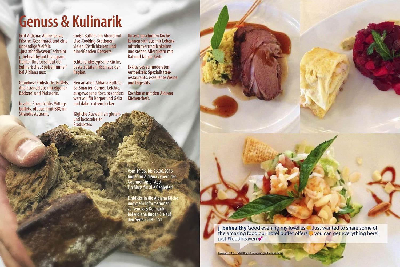Kulinarik Echt Aldiana Katalog Sommer 2016 Instagram