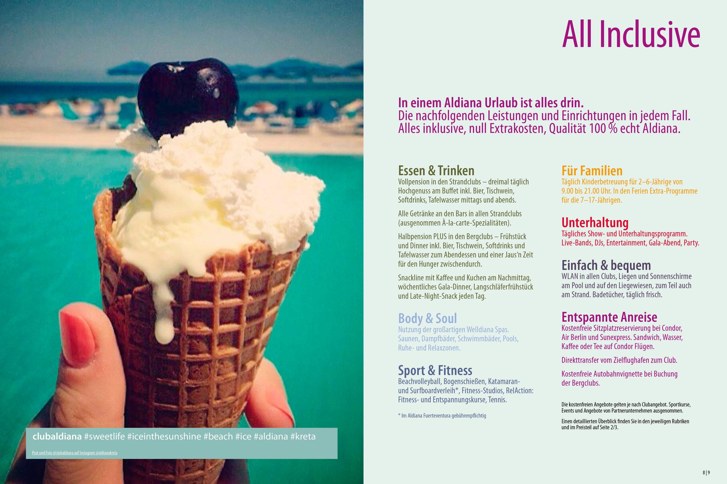 Aldiana Katalog Sommer 2017 All Inclusive