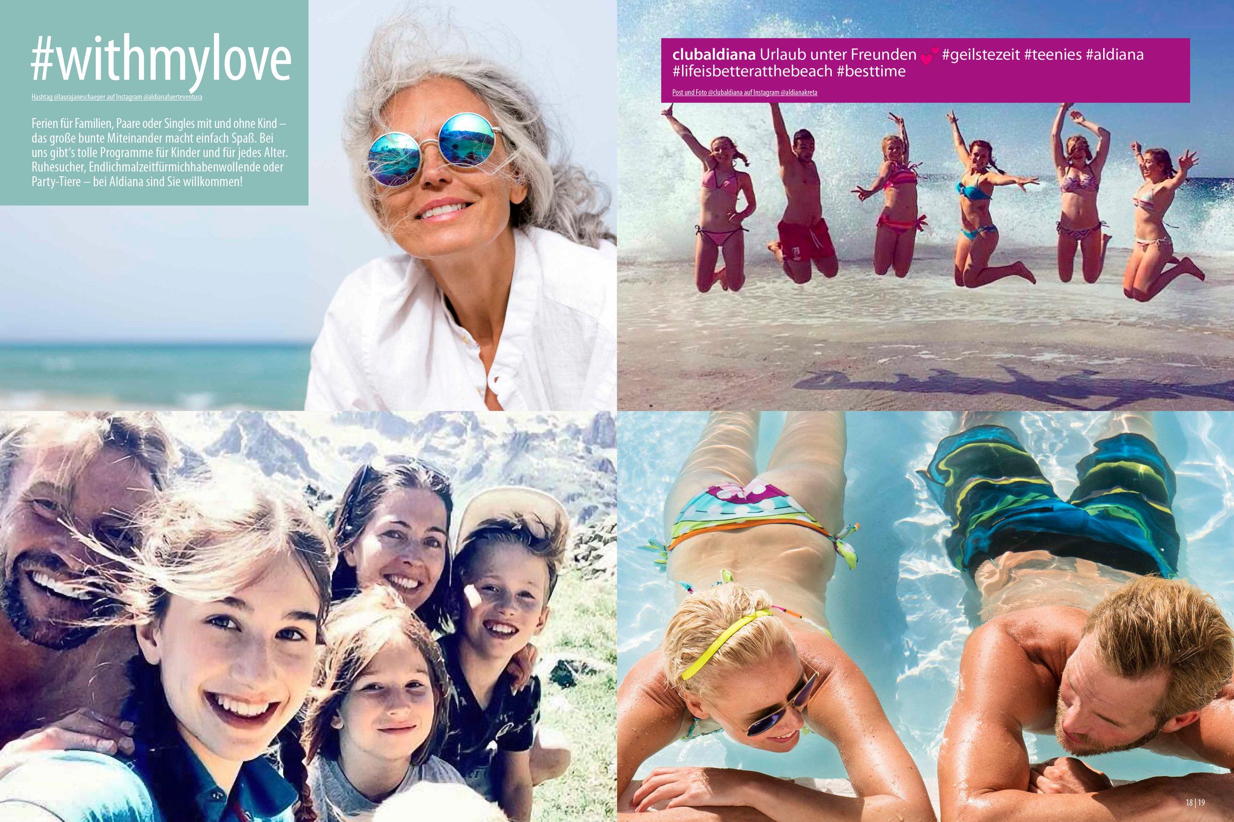Aldiana Katalog Sommer 2017 Markensäule drei Generationen