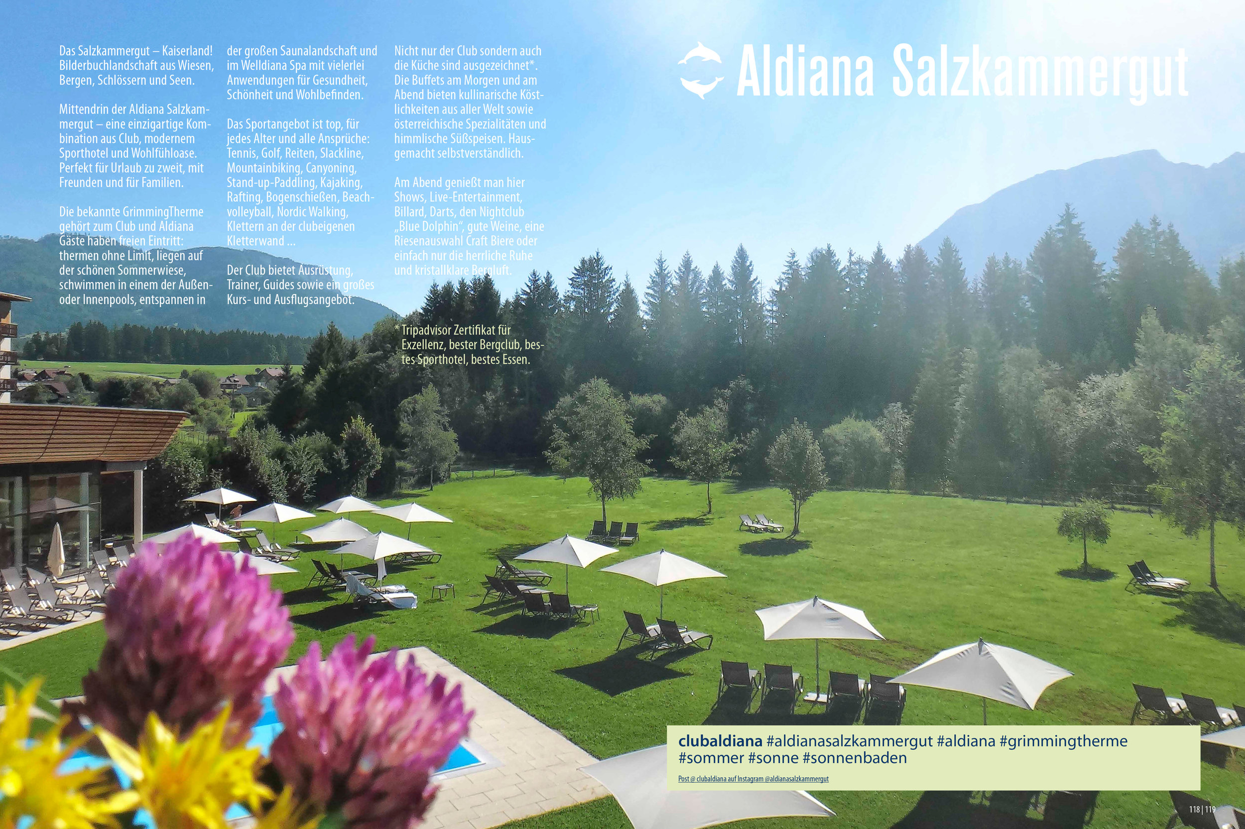 Aldiana Katalog Sommer 2017 Club Salzkammergut