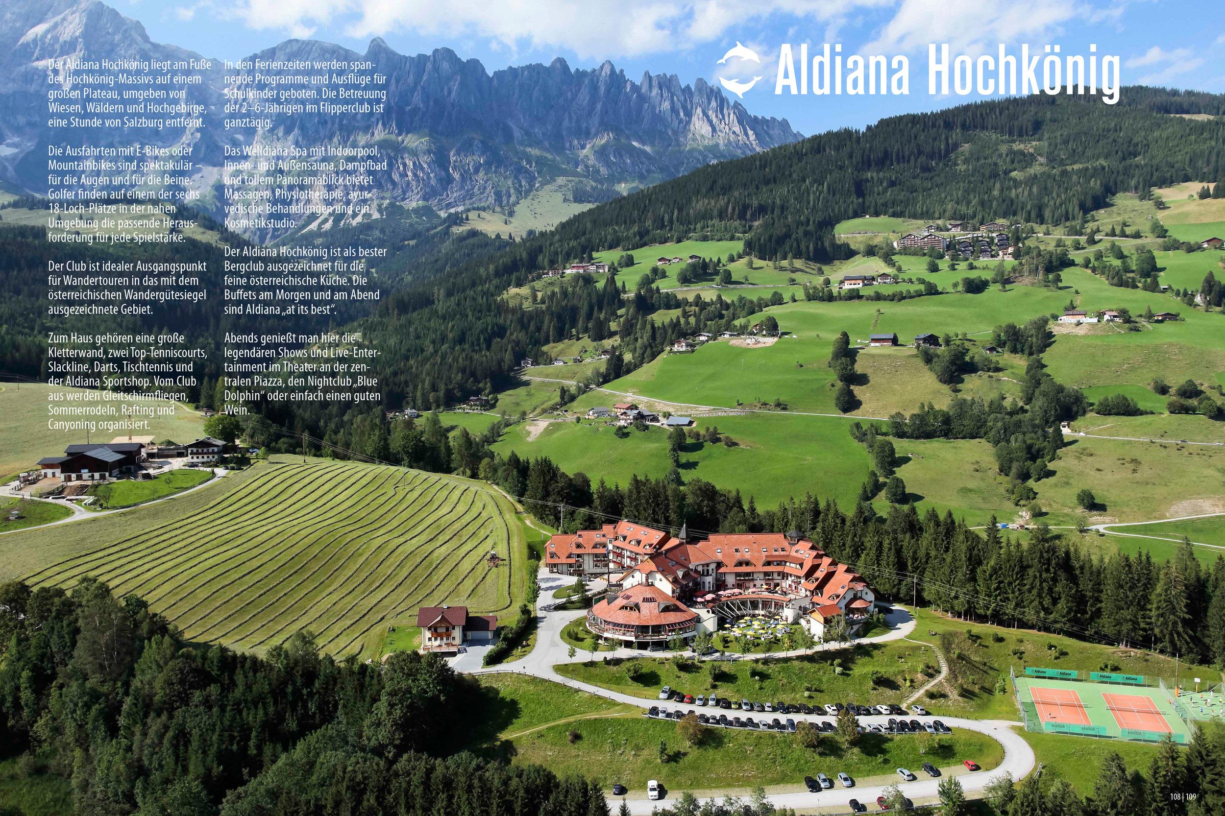 Aldiana Katalog Sommer 2017 Club Hochkönig