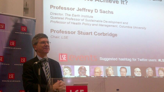 """""""Sachs on sustainable development and the SDGs"""",    WhyDev   , 27 March 2013."""