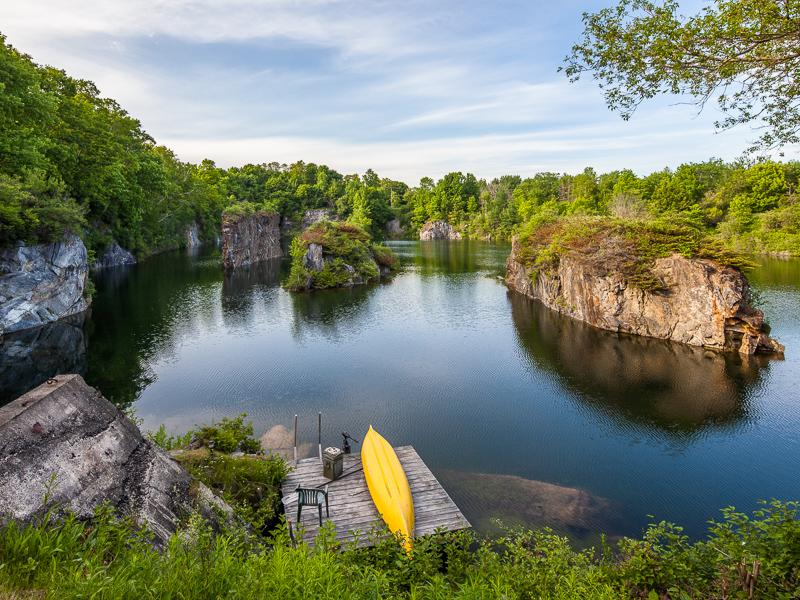 This is the private quarry. Wouldn't you love to have this in your backyard?