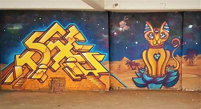 U-Think graffiti mural