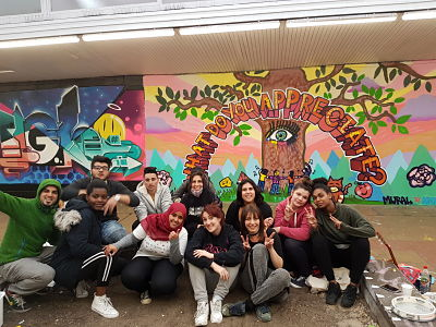 A.P.O.W (Amazing People Of The World) mural workshop