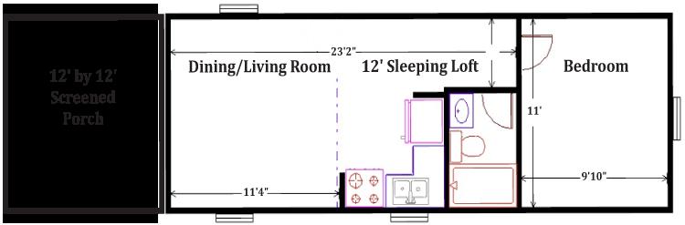 layout of stewart lodge